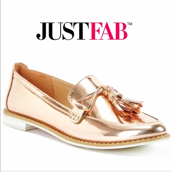 18a9b103b67 JustFab Shoes - JustFab Rose Gold Anna Kora Oxford Loafer Flat 10